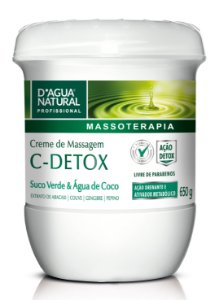 Creme de Massagem C-Detox 650g D'Agua Natural