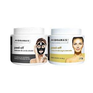 Kit Peel-off Carvão Ativado E Máscara De Argila Dourada