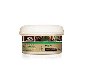 Creme de Massagem Cafeina 7 Ativos 300g D'Agua Natural