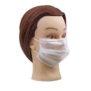 Máscara Descartável Não Tecido Branca Caixa com 25 Unidades Santa Clara