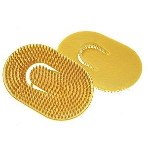 Escova Plástica Oval Pequena Para Massagem Capilar - Santa Clara