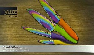 Kit Yuze linha titanium de facas