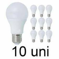 Kit 10 Lâmpada Bulbo LED A60 6 W Bivolt Branca ( 6000 k )