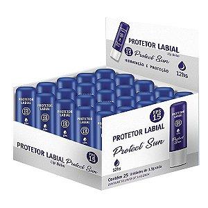 Protetor Labial Protect Sun FPs 15 - caixa com 25 unidades