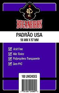 SLEEVES BUCANEIROS: PADRÃO USA (56 X 87mm) - PACOTE C/ 100