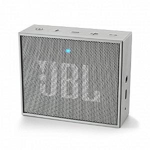 SPEAKER PORTÁTIL JBL GO BLUETOOTH PRATA