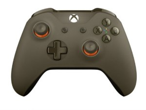 CONTROLE XBOX ONE S ARMY GREEN ORANGE