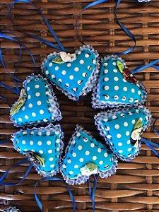 Chaveiro de coração - Azul