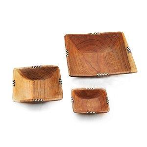 Kit utensílios - madeira e madrepérola