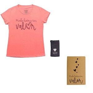 Kit - Baby look rosa + Caderneta