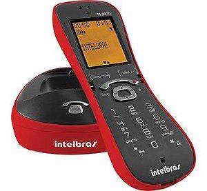 Telefone Sem Fio Digital Intelbras ts-8220 vermelho