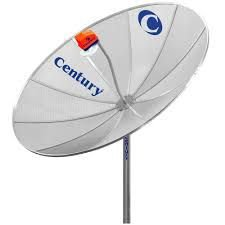 Antena Parabolica Century com Receptor Digital Midiabox B3 kit completo