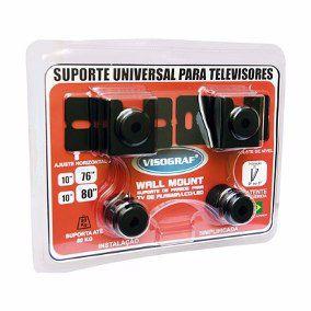 VISOGRAF SUPORTE UNIVERSAL PARA TV 10'' A 80'' DE PLASMA/LCD E LED - WALL MOUNT -