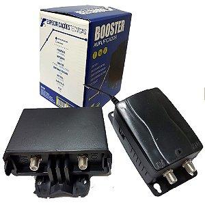 Booster Sinalfort FULL HD Amplificador de Sinal VHF/ UHF 26DB