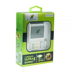CARREGADOR X-CELL ULTRA RAPIDO 2,4 A IPHONE XC-IPH.5/6 UR.4