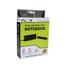 FONTE UNIVERSAL PARA NOTEBOOK 120W BIVOLT COM AJUSTE AUTOMATICO + 9 PLUGUES INCLUIDO HP/ DELL - FX-505-AT