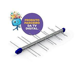 ANTENA DIGITAL ALTO GANHO 14DBI 20 ELEMENTOS PROHD-1040LTE - PROELETRONIC