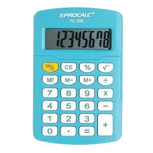 Calculadora Pessoal Procalc PC986-BL 8 Dígitos Azul