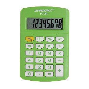 Calculadora Pessoal Procalc PC986-GN 8 Dígitos Verde