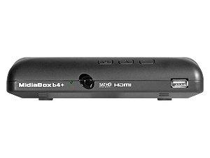 Receptor e Conversor Digital Midiabox HDTV B4+ para Antena Parabólica
