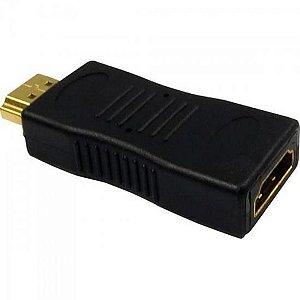 Adaptador HDMI Macho x HDMI Fêmea Dourado