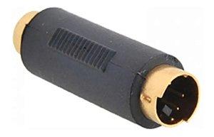 Adaptador Mini Din Plug Mini Din 4p x Jack RCA Femea