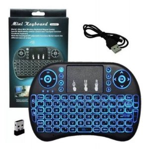 Mini Teclado Para Tvs, Smartbox, PCs, Notebooks, Tablets e Vídeo games