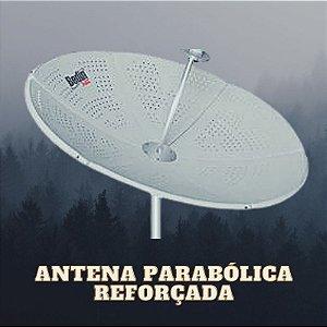 Antena Parabólica de Chapa Fechada 1,50 Metro Bedin Sat C/ Bengala para Banda C