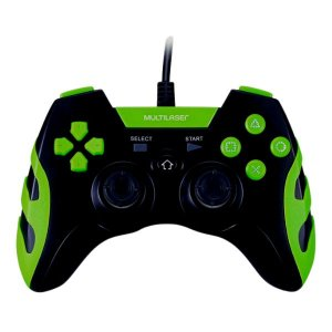 Controle Game para PS3 e PC Preto e Verde JS091
