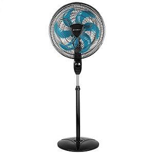 Ventilador de Coluna Ventilar Eros Supreme Pas Azul 40CM VRT865 Preto 127V