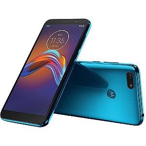 """Smartphone Motorola Moto e6 play 32gb de Memória - 2 GB Ram - Bateria 3000 mAh - Tela Max Vision de 5.5"""" Celular Azul"""