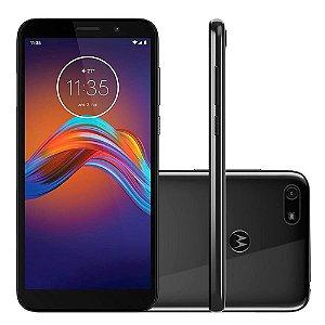 """Smartphone Motorola Moto e6 play 32gb de Memória - 2 GB Ram - Bateria 3000 mAh - Tela Max Vision de 5.5"""" Celular Cinza Metálico"""