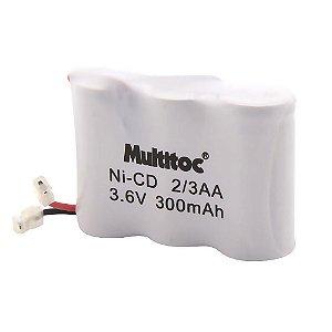 Bateria para Telefone sem Fio Multitoc P25 3.6V 300MAH Plug Universal