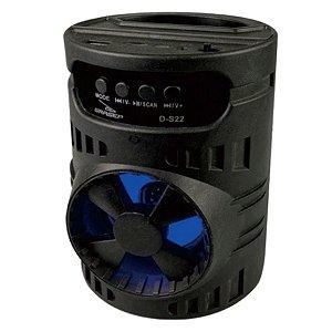 CAIXA DE SOM GRASEP D-S22 PRETA BLUETOOTH - USB - CARTÃO SD - RÁDIO FM - 10W RMS