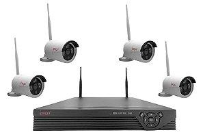 Kit Câmera De Segurança Sem Fio Ip 1080p + Dvr Ip Kp-ca149