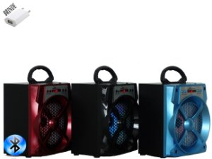 Caixa de som bluetooth speaker fm sd usb portátil
