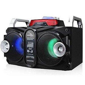 Caixa de som com bluetooth karaoke potente