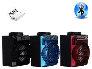 Caixa de som bluetooth portátil rádio fm usb micro Sd