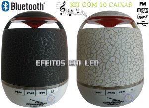 Caixas de som radio bluetooth fm usb micro sd led