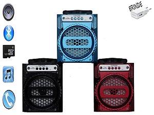 Mini caixa de som bluetooth portátil rádio fm usb micro sd
