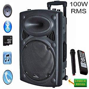 Caixa De Som Bluetooth C/ Microfone Sem Fio !