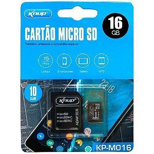 CARTÃO DE MEMÓRIA KNUP / LEBOSS MODELO KP-M016 16GB HIGH SPEED