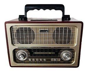 CAIXA DE SOM ECOBAZ MARROM MODELO EB-1817BT - BLUETOOTH - FM INTEGRADO - USB 3X1W RMS
