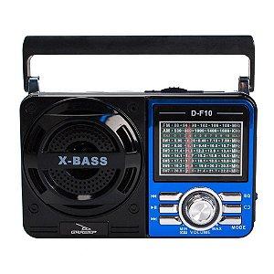 CAIXA DE SOM GRASEP MODELO D-F10 RETRÔ BLUETOOTH - RÁDIO FM / AM / SW INTEGRADO - ENTRADA USB - PENDRIVE - SD - 8W RMS