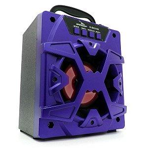 Caixa De Som Grasep Modelo D-bh3102 Bluetooth - Entrada Usb - Pendrive - Micro Sd - Rádio Fm Integrado - Caixa em MDF - 10W Rms