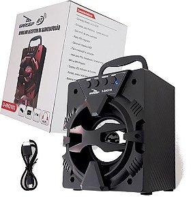 Caixa De Som Grasep Modelo D-bh3103 Bluetooth - Entrada Usb - Pendrive - Micro Sd - Rádio Fm Integrado - Caixa em MDF - 10W Rms