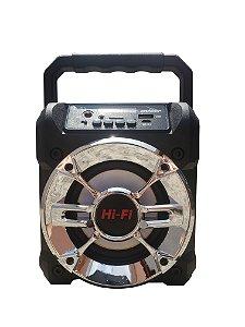 CAIXA DE SOM GRASEP MODELO D-S3 BLUETOOTH - ENTRADA USB E MICRO SD - ENTRADA P/ MICROFONE - RÁDIO FM INTEGRADO - SOM HI-FI DE QUALIDADE - 12W RMS