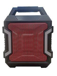 CAIXA DE SOM GRASEP BLUETOOTH MODELO D-K01 - FM INTEGRADO - ENTRADA USB E MICRO SD - SOM HI-FI - DISPLAY LED - MICROFONE E CONTROLE - 20W RMS