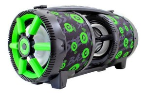 CAIXA DE SOM GRASEP BLUETOOTH MODELO D-D10 - FM INTEGRADO - ENTRADA USB E MICRO SD - SOM HI-FI - DISPLAY LED - MICROFONE E CONTROLE - 60W RMS