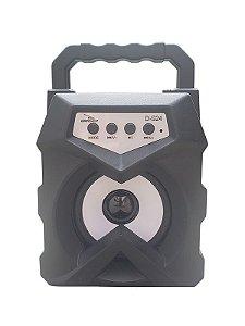 CAIXA DE SOM GRASEP D-S24 BLUETOOTH - ENTRADA USB E MICRO SD - RÁDIO FM INTEGRADO - SOM HI-FI DE QUALIDADE - 10W RMS